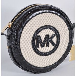 Michael Kors AIDY Croc Embossed Crossbody Bag